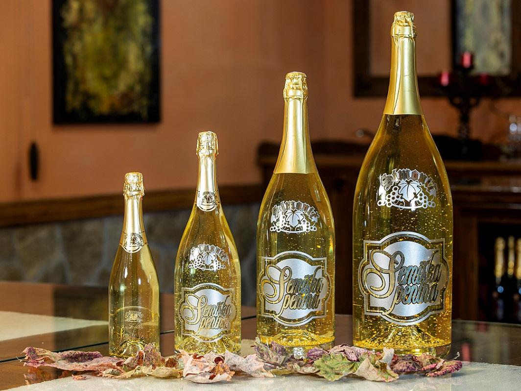 Special bottling of Semiška Gold sparkling wine