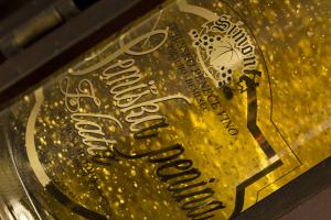 Semiška zlata penina v darilni skrinjici 0,75l
