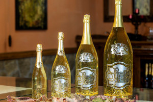 Special bottling of Semiška Gold sparkling wine